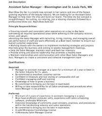 Salon Receptionist Resume Sample by Esthetician Job Description Sample Resume For Salon Manager Or