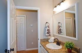 bathroom mirror trim ideas engaging white framed bathroom mirror furniture brockman more