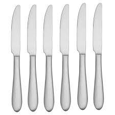 oneida kitchen knives oneida vale dinner knives set of 6 target