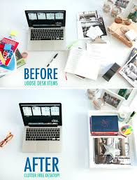 Organize Desk At Work Glamorous Modern Office Work Desk With Laptop Vector Image Office