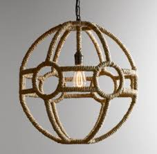 Orb Pendant Light Rope Orb Pendant Natural