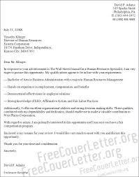 hr generalist cover letter sample starengineering