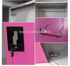 Cabinet Clothes 2 Door Metal Bedroom Furniture Cheap Clothes Cabinet Locking