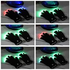 Light Up Gloves Flashing Fingertip Light Led Gloves Glow In The Dark Gloves
