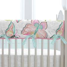 bright damask butterflies crib bedding carousel designs