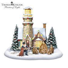 abradfordchristmas thomas kinkade light of christmas lighthouse