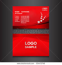 Red Business Cards Red Business Card Design Template Vector Stock Vector 334473746