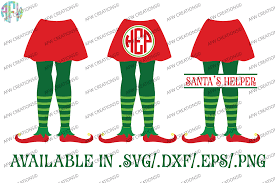 umbrella drink svg elf legs split u0026 monogram svg dxf eps cut files by afw