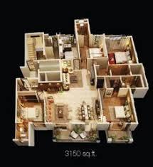 50 four u201c4 u201d bedroom apartment house plans bedrooms 3d interior