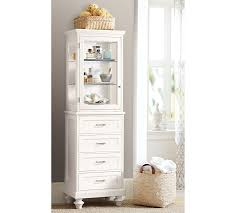 Bathroom Storage Cabinets With Drawers Stuart Storage Cabinet Hutch Pottery Barn