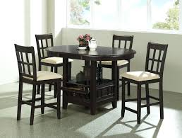 counter table with storage kitchen table storage counter height round kitchen table kitchen