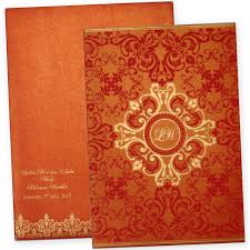 indian wedding card design trendy indian wedding card design in orange color
