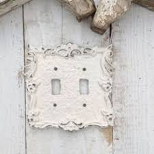 Shabby Chic Light Switch Covers by Metal Wall Decor Light Switch Cover Creamy Off White Rocker