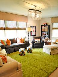 this room is a stylish tv hangout and playroom a bright teen