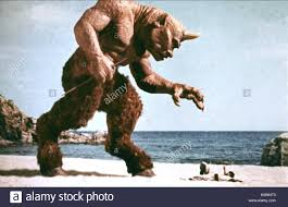 cyclops monster the 7th voyage of sinbad 1958 stock photo