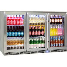 commercial glass door bar fridges and freezers back bar