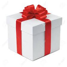 gift box with ribbon gift box with ribbon end bow on the white background stock photo
