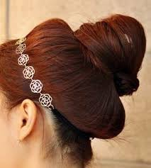 chignon cuisine headdress hollow out roses cuisine with a hair band
