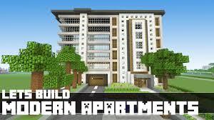 minecraft let u0027s build modern apartments 18 part 2 youtube
