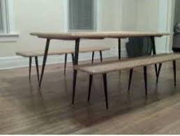 chi scavenger mid century dining table with 2 benches for 150