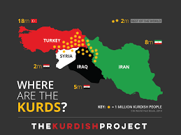 Political Map Of The Middle East by Kurdistan Map The Kurdish Project