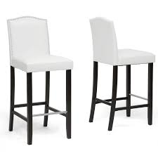amazon com baxton studio libra modern bar stool with nail head