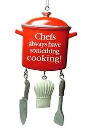 radko cooking cracker ornament chef culinary