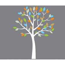 Nursery Tree Wall Decal Orange And Blue Tree Wall Decals For For Nursery Or Baby Room