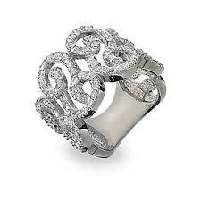 silver hand rings images Chic scroll diamond ring elegant sterling silver diamond cz scroll jpg