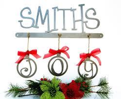 buy a handmade custom christmas family last name metal sign made