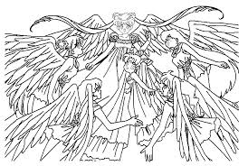 12 images detailed coloring pages sunset anime angel coloring