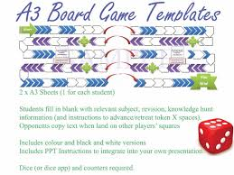 key word revision board game template ppt afl revision