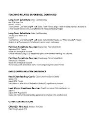 First Grade Teacher Resume Elementary Education Special Education Resume