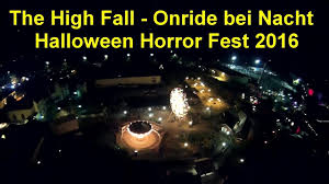 the high fall movie park germany onride bei nacht free fall
