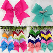 ribbon boutique 8inch high quality ribbon boutique cheer bow with hair clip