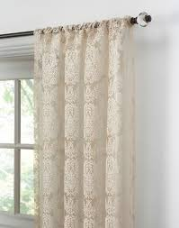 Lace Curtains Traditional Damask Lace Pole Top Curtain Panel Curtainworks Com