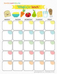 lunch box planner template monthly meal planner hubby and i are going to give this a try