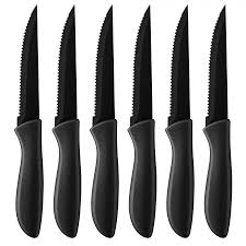 Ceramic Kitchen Knives C55 6pcsbk Steak Knives Cutlery Products Cuisinart Com