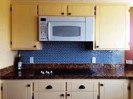 plain beige kitchen cabinet royal blue backsplash small