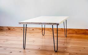 rectangular wood hairpin coffee table diy hairpin leg coffee table dunn diy