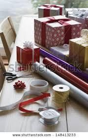 Gift Wrapping Accessories - gift wrapping stock images royalty free images u0026 vectors