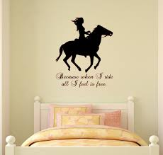 horse wall decal horse quote sticker wall words girls teen zoom