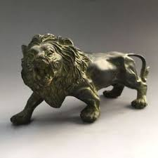 antique bronze lion china antique bronze handmade fengshui lucky animal lion