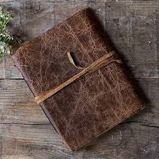 Leather Guest Book Wedding Leather Bound Journal Rustic Style Guest Book The Knot Shop