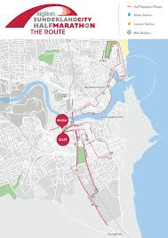 Marathon Route Map by The Route Sunderland City 10k
