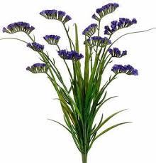 statice flowers artificial statice bush in purple silk flowers afloral