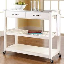 stainless steel top kitchen cart stainless steel kitchen islands carts you ll love