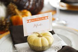 thanksgiving glitter dipped pumpkin place card holders tauni co