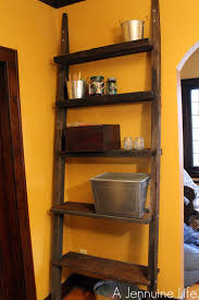 orange home decor decorating inspiring ladder bookshelf for simple furniture ideas