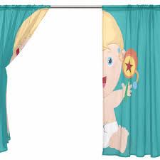 Curtain Cartoon by Blue Sheer Door Curtain Panels W55xl78 Inch W55xl84 Inch Cartoon